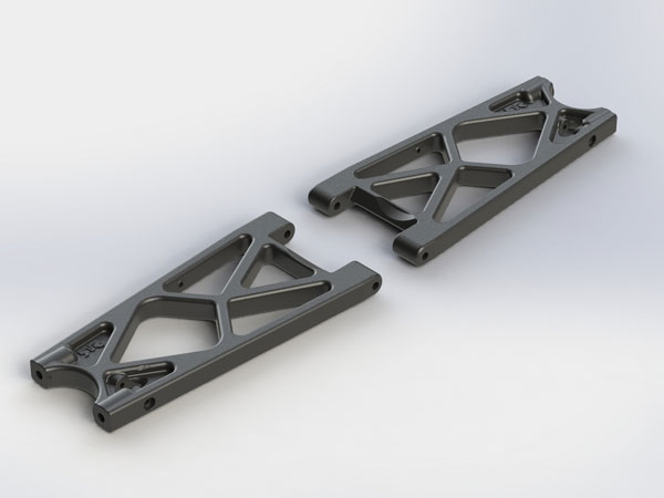 Arrma Rear Lower Suspension Arms (2) Nero/ Fazon AR330333