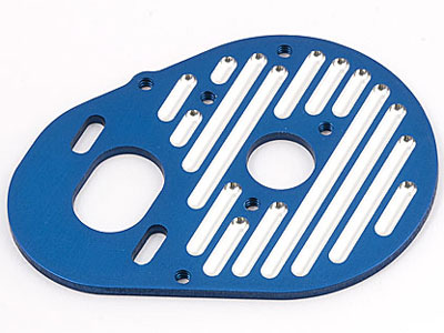 Image Of Associated RC10B4 Blue Aluminium Milled Motor Plate