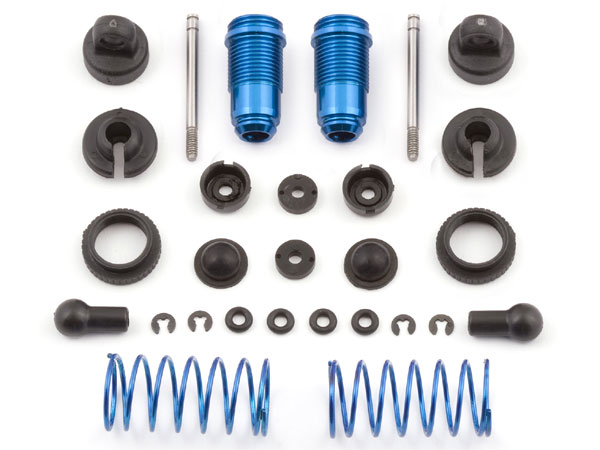 Image Of Associated Factory Team Blue Front Threaded Shock Kit - RC18