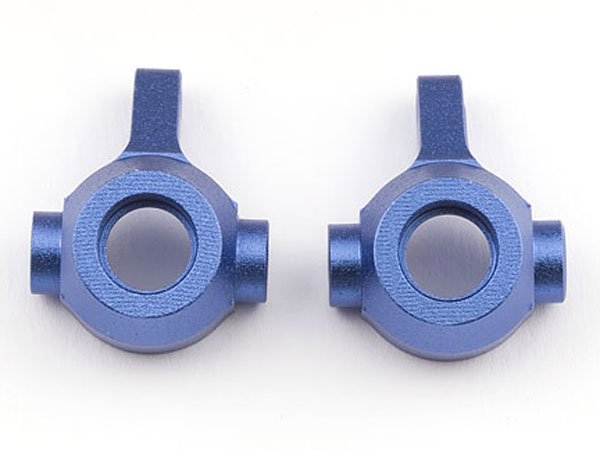 Image Of Associated Factory Team Blue Front Steering Blocks - RC18T