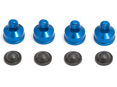 Associated FT MGT Blue Aluminum Shock Caps (4) AS25404