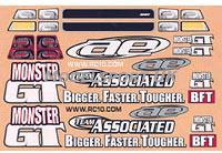 Image Of Associated Monster GT Decal Sheet