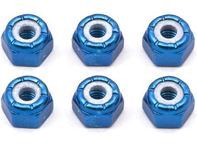 Image Of Associated 8-32 Aluminium Locknut (Blue Anodized)
