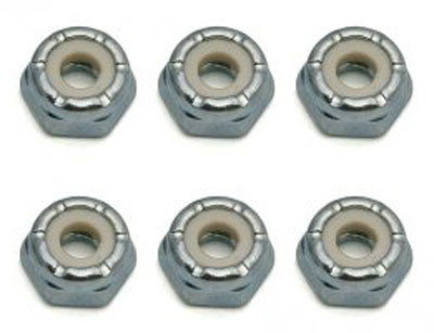 Image Of Associated 8-32 Low Profile Steel Locknuts (6)