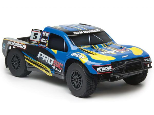 Image Of Associated ProSC 4x4 Brushless RTR Electric 4WD Short Course Truck - Blue