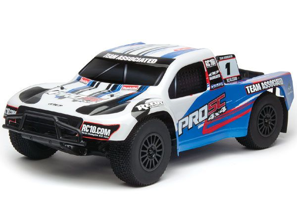 Image Of Associated ProSC 4x4 Brushless RTR Electric 4WD Short Course Truck - White