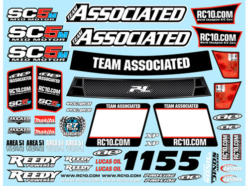 Associated SC5M Decal Sheet  AS71036