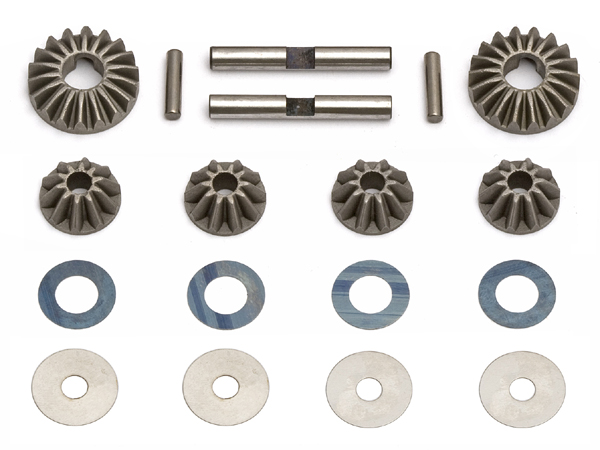 Image Of Associated RC8 Diff Gears, Washers and Pins