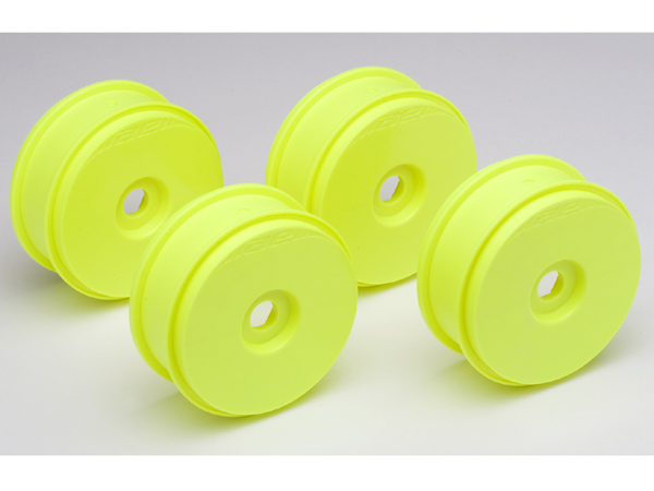 Associated RC8 Buggy Wheels 1/8 (Yellow) 81mm AS89153