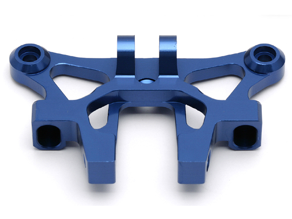 Associated RC8 Factory Team Aluminium Front Top Plate (Blue) AS89234