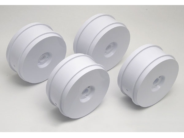 Associated RC8 1/8th Buggy 83mm Wheels (4) - White AS89296