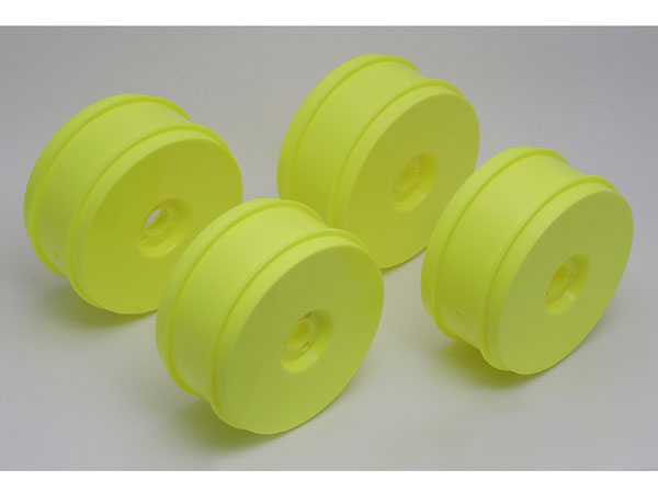 Associated RC8 1/8th Buggy 83mm Wheels (4) - Yellow AS89297