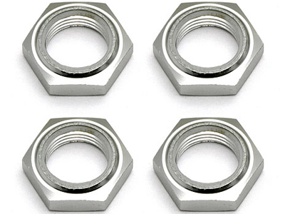 Associated Nyloc Wheel Nuts, Silver AS89405