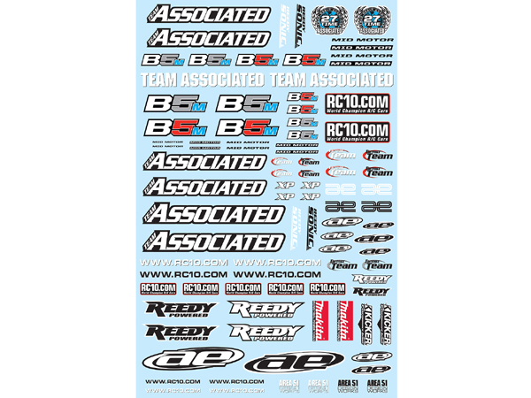 Image Of Associated B5M Decal Sheet