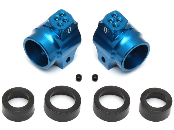 Image Of Associated Factory Team Aluminum Rear Hubs for the RC10B5 and B5M (Blue)