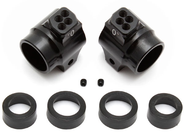 Associated Factory Team Aluminum Rear Hubs for the RC10B5 and B5M (Black) AS91549
