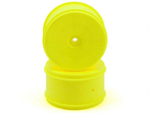 Image Of Associated 61mm Rear Buggy Wheels - Yellow (2)