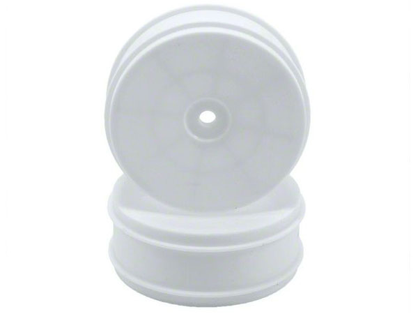 Associated 61mm Front 2WD Buggy Wheels - White (2) AS91572