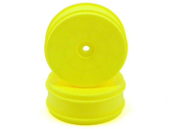 Associated 61mm Front 2WD Buggy Wheels - Yellow (2) AS91573