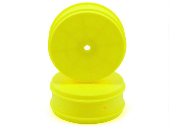Image Of Associated 61mm Front 4WD Buggy Wheels - Yellow (2)