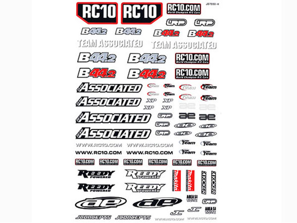 Associated Associated B44.2 Decal Sheet AS9782
