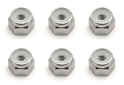Image Of Associated SC10 8-32 Aluminium Locknuts - Silver