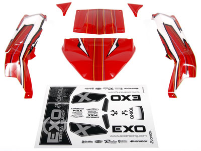 Axial EXO Terra Buggy Body - .040 (Pre-Printed Red) AX04037