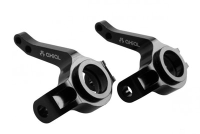 Image Of Axial AX10/ SCX10 Aluminium Steering Knuckles Black