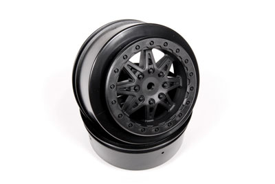 Image Of Axial 2.2/3.0 Raceline Renegade Wheels - 41mm (Black) (2pcs)