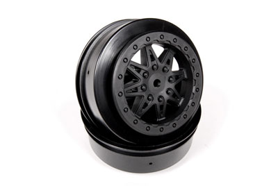 Image Of Axial 2.2/3.0 Raceline Renegade Wheels - 34mm (Black) (2pcs)