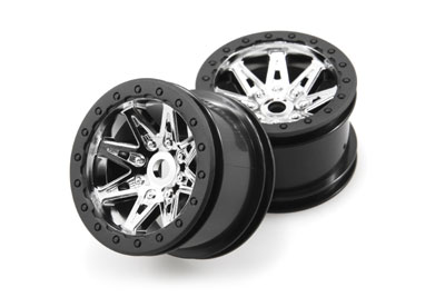 Image Of Axial 2.2 Raceline Renegade Wheels - 41mm Wide (Chrome) (2)