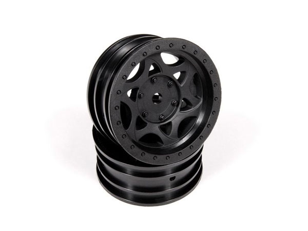 Image Of Axial 1.9 Walker Evans Wheels - Black (2)