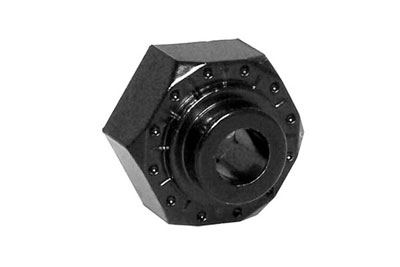 Image Of Axial 12mm Aluminum Hex (Black) 4pc
