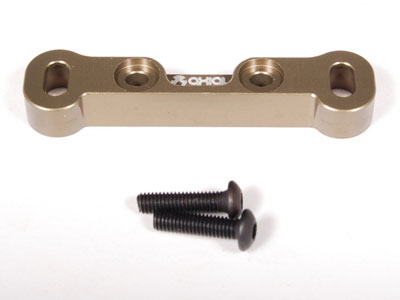 Axial EXO Machined Aluminum Front Toe Block F2 (Hard Anodized) AX30812