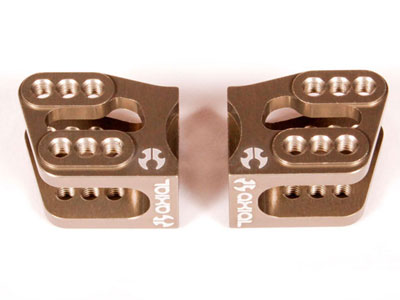 Image Of Axial AR60 OCP Machined Link Mounts (Hard Anodized) (2pcs)