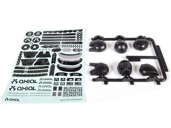 Image Of Axial Helmet Set - Black