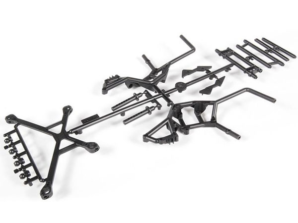Image Of Axial Yeti Rear Cage Components