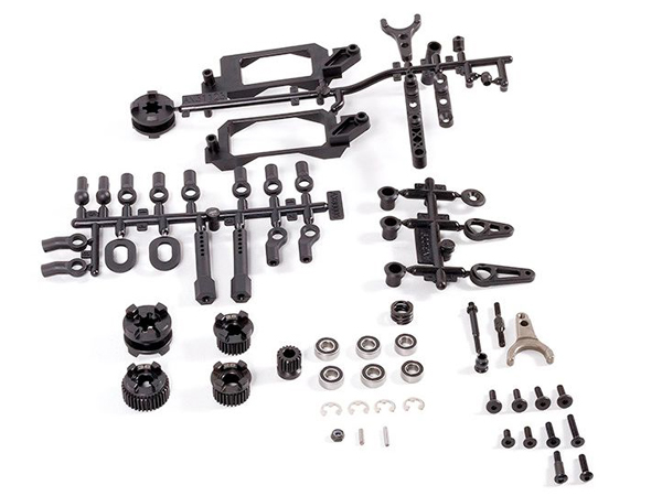 Image Of Axial 2-Speed Hi/Lo Transmission Components - Yeti 1/10th