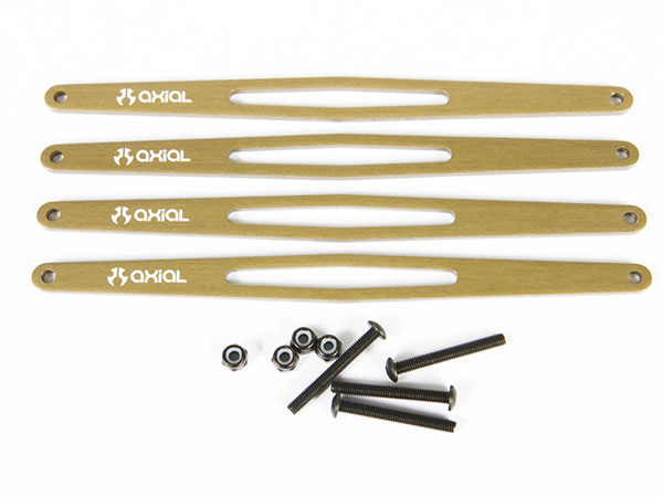 Image Of Axial Yeti XL Upper Link Plate Set (Aluminum) (4pcs)