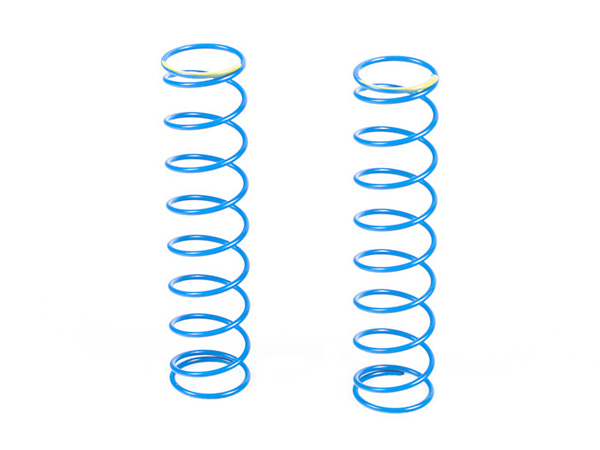 Image Of Axial Spring 14x70mm 3.27 lbs/in - Yellow (2pcs) (Blue Springs)