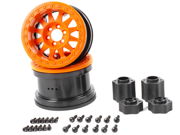 Axial 2.2 Method Beadlock Wheels - IFD Wheels - Orange (2pcs) AX31364