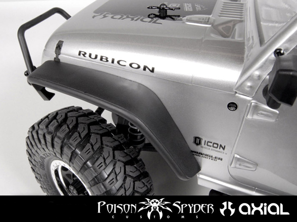 Image Of Axial SCX10 Poison Spyder JK Crusher Flares (Front)