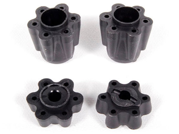 Axial Wheel Hub Adapters (2pcs Narrow, 2pcs Wide) AX80128