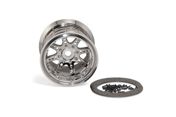 Image Of Axial 8 Spoke Beadlock Wheel - Chrome