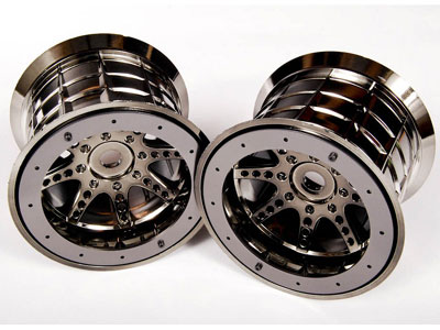 Image Of Axial Oversize Beadlock 8 Spoke (Black Chrome)(14/17mm)
