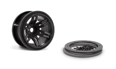 Image Of Axial Racing 2.2 Rockster Beadlocks - Black