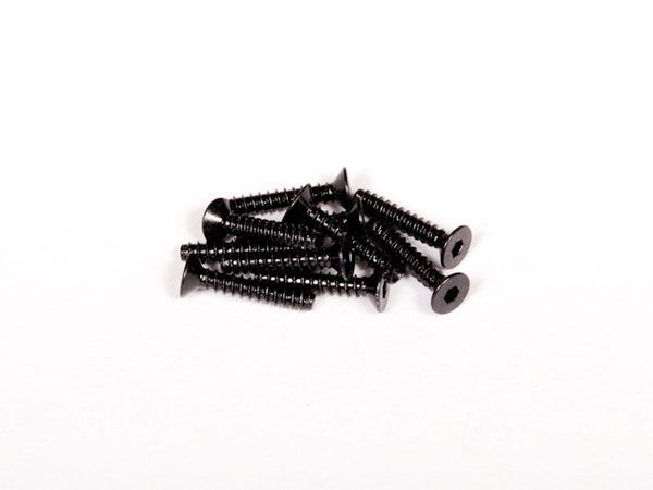 Axial M3x16mm Hex Socket Tapping Flat Head (Black) (10pcs) AXA0467