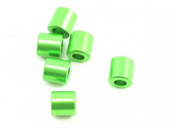 Image Of Axial Spacer 6x6mm Green (6)