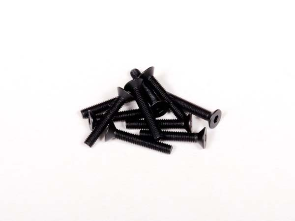 Image Of Axial M3x18mm Hex Socket Flat Head (Black) (10pcs)