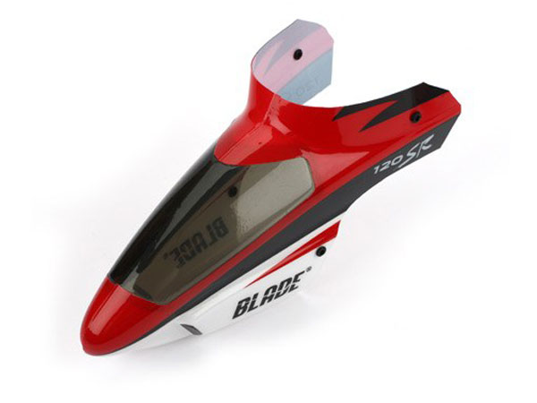 Blade 120 SR Complete Canopy with Grommets (Red) BLH3118R